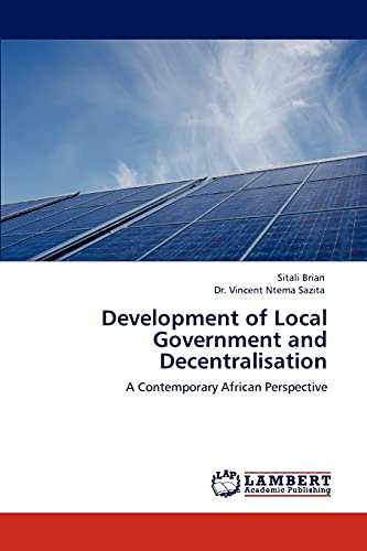 Development of Local Government and Decentralisation: Sitali Brian