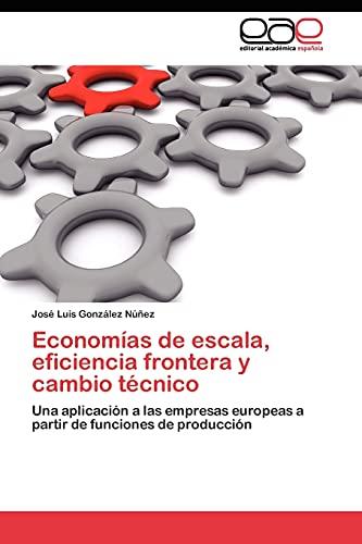 9783845480749: Economías de escala, eficiencia frontera y cambio técnico: Una aplicación a las empresas europeas a partir de funciones de producción (Spanish Edition)