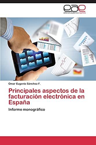 9783845484068: Principales Aspectos de La Facturacion Electronica En Espana