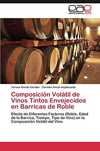 9783845486246: Composición Volátil de Vinos Tintos Envejecidos en Barricas de Roble
