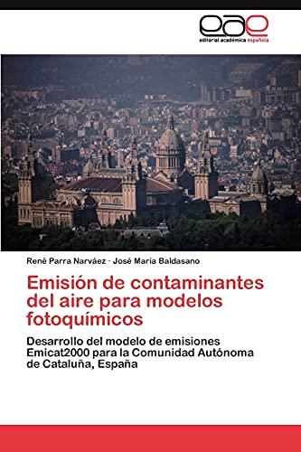 9783845491370: Emisión de contaminantes del aire para modelos fotoquímicos