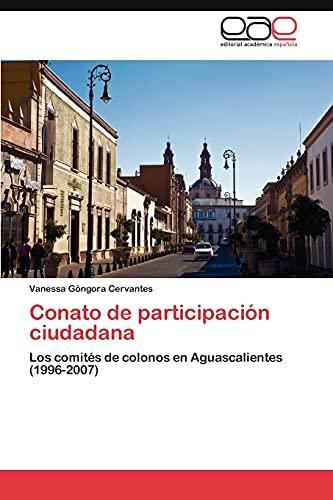 9783845493398: Conato de participación ciudadana
