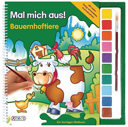 9783845500942: Mal mich aus: Bauernhoftiere: Vorlagen-Malbuch mit Wasserfarben