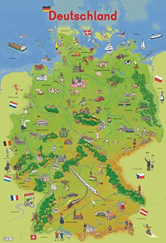 9783845501321: Lernposter Deutschland