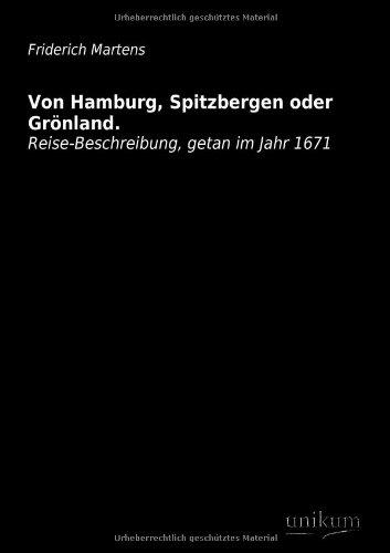 9783845710136: Von Hamburg, Spitzbergen Oder Gronland.