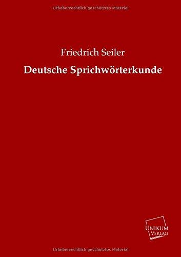 9783845720302: Deutsche Sprichwörterkunde