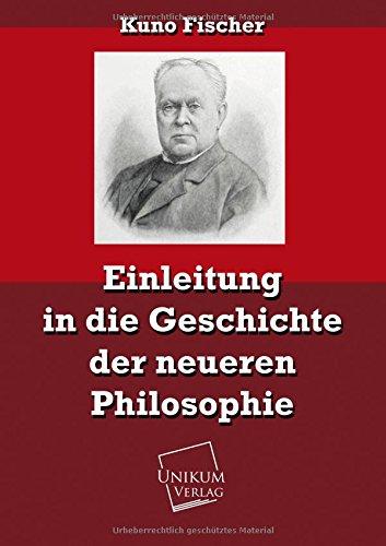9783845721804: Einleitung in die Geschichte der neueren Philosophie
