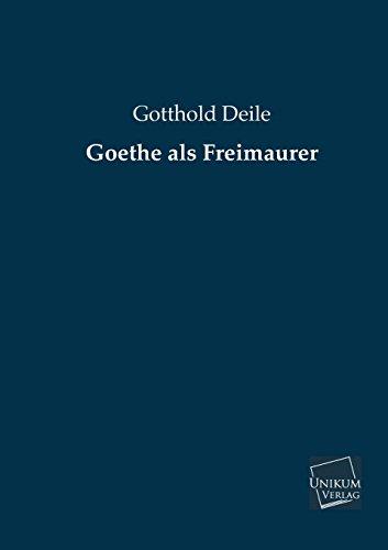 9783845722795: Goethe ALS Freimaurer