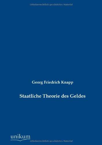 Staatliche Theorie des Geldes: Georg Friedrich Knapp