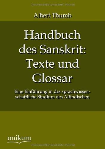 9783845724034: Handbuch des Sanskrit: Texte und Glossar
