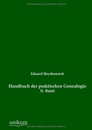 9783845724737: Handbuch der praktischen Genealogie