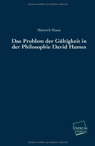 9783845741246: Das Problem der Gültigkeit in der Philosophie David Humes