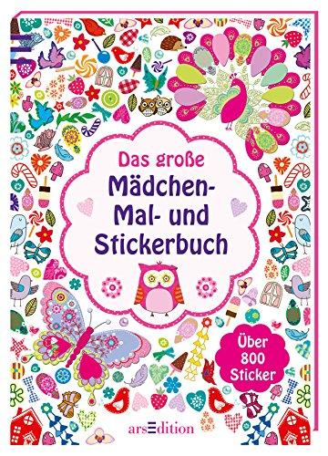9783845810829: Das große Mädchen-Mal- und Stickerbuch
