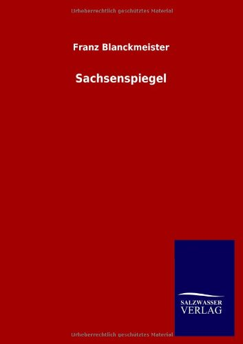 9783846005026: Sachsenspiegel