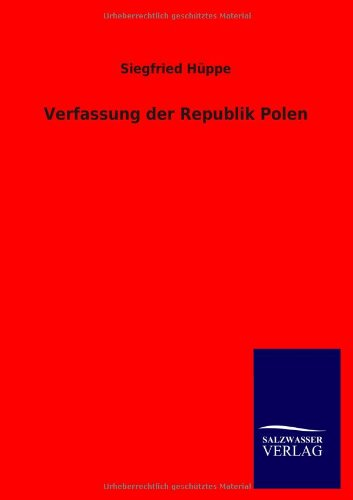 9783846005873: Verfassung der Republik Polen (German Edition)