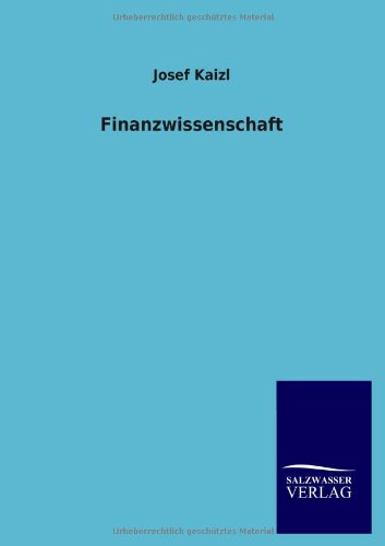 Finanzwissenschaft: Josef Kaizl