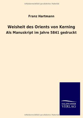 9783846020630: Weisheit des Orients von Kerning