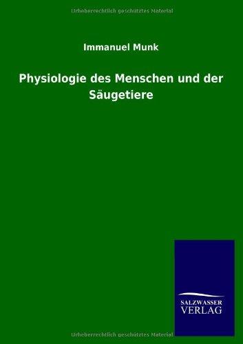 9783846022436: Physiologie des Menschen und der Säugetiere