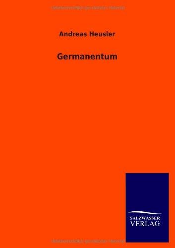 Germanentum: Heusler, Andreas