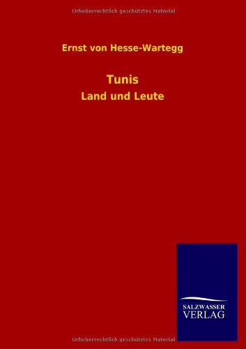 9783846026571: Tunis (German Edition)