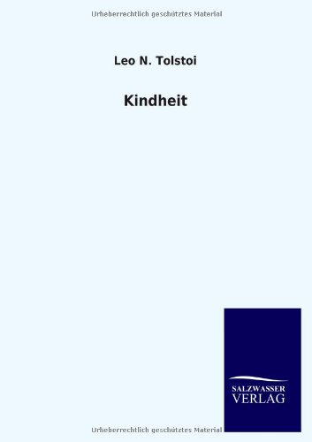 9783846028988: Kindheit (German Edition)