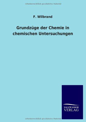 9783846029336: Grundz�ge der Chemie in chemischen Untersuchungen