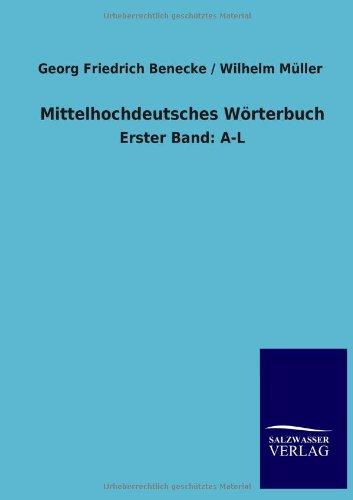 9783846030370: Mittelhochdeutsches W�rterbuch