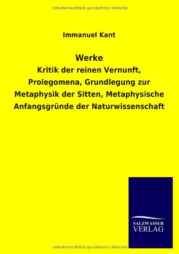 Werke (German Edition) (9783846032060) by Immanuel Kant