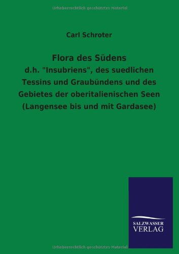 9783846035269: Flora Des Sudens (German Edition)