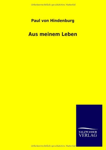 9783846035412: Aus Meinem Leben (German Edition)