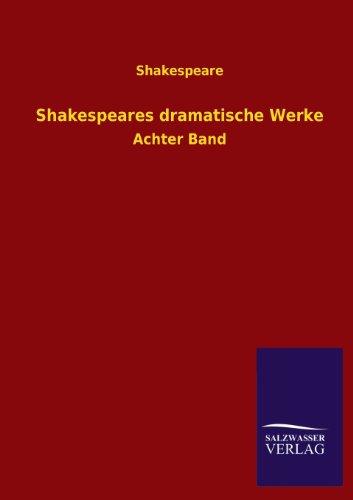 9783846038796: Shakespeares Dramatische Werke