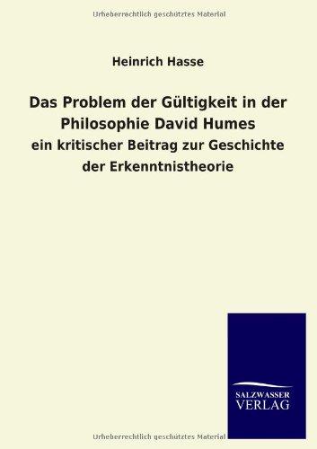9783846038888: Das Problem der Gültigkeit in der Philosophie David Humes