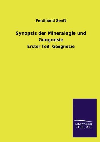 9783846039588: Synopsis der Mineralogie und Geognosie: Erster Teil: Geognosie