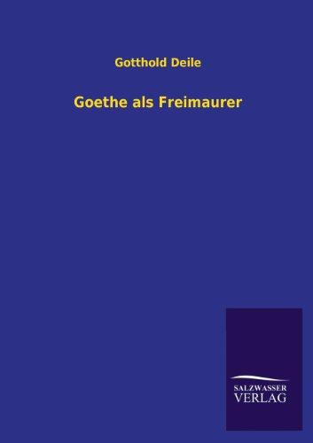 9783846040423: Goethe ALS Freimaurer