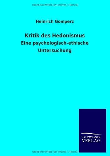 9783846042748: Kritik Des Hedonismus