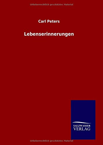 9783846060674: Lebenserinnerungen (German Edition)