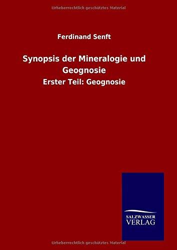 9783846070024: Synopsis der Mineralogie und Geognosie