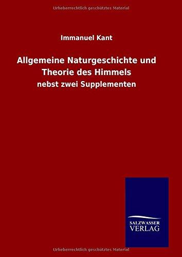9783846072080: Allgemeine Naturgeschichte und Theorie des Himmels (German Edition)