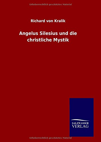 9783846077641: Angelus Silesius und die christliche Mystik (German Edition)