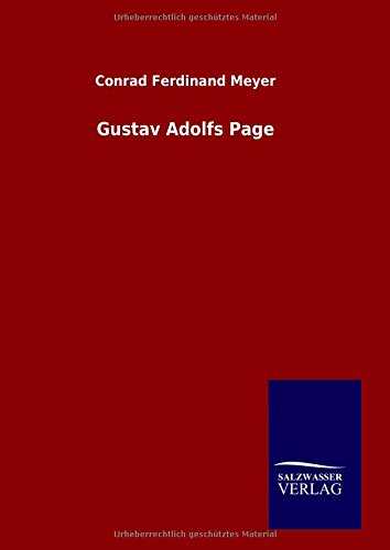 9783846078914: Gustav Adolfs Page (German Edition)