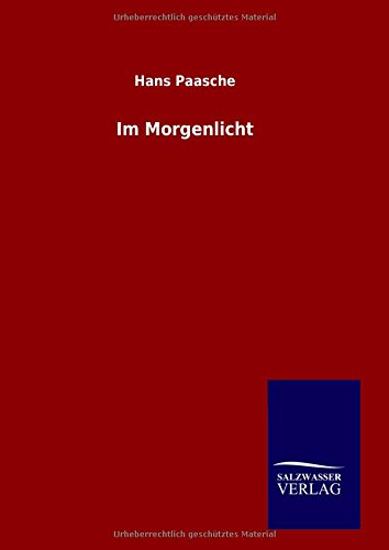 9783846083369: Im Morgenlicht (German Edition)