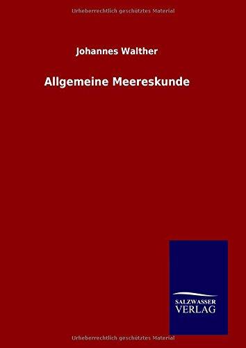 9783846083383: Allgemeine Meereskunde