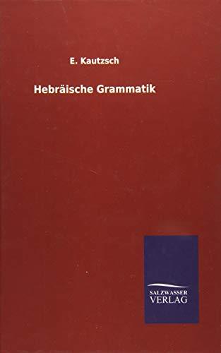 9783846085110: Hebräische Grammatik (German Edition)