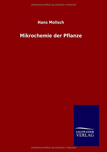9783846088142: Mikrochemie der Pflanze