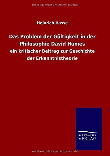 9783846089446: Das Problem der Gültigkeit in der Philosophie David Humes