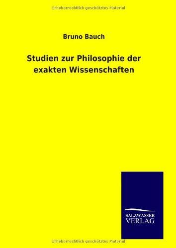 9783846090596: Studien zur Philosophie der exakten Wissenschaften