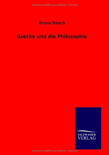 9783846092798: Goethe und die Philosophie