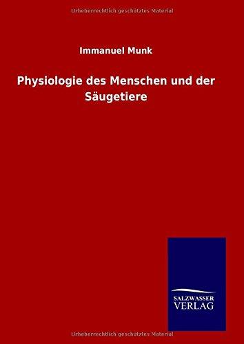 9783846096307: Physiologie des Menschen und der Säugetiere
