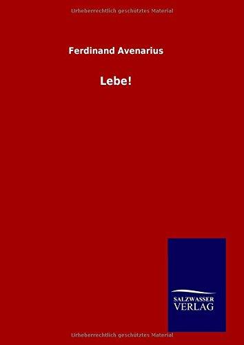 9783846096697: Lebe! (German Edition)