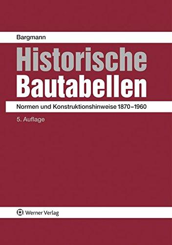 Historische Bautabellen: Horst Bargmann